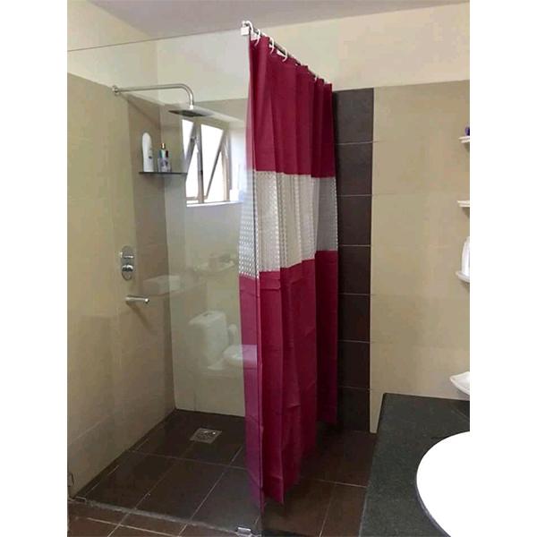 Bath Tub/Shower Curtain PVC-180*200cm-Maroon