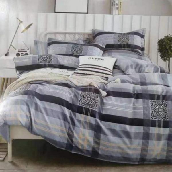 5 Piece Cotton Duvet Cover Set (Duvet Cover+2 Pillowcases 2 Bed Sheets) 5by6  (150*200cm)
