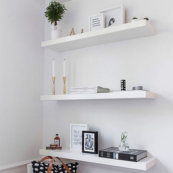 "Flat Board Floating Shelf ""100*25*4.6 cm   (Price Per Piece)"
